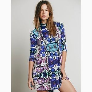 Free People floral trapeze dress